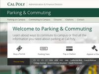 University Parking Landing Page