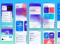 iOS 14 app for Design+Code iphone ui design ios mobile
