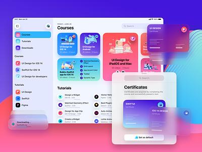 Design+Code iPad app mobile design ui ios