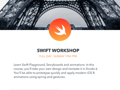 Sketch & Swift Workshops photo sketch swift iphone workshop