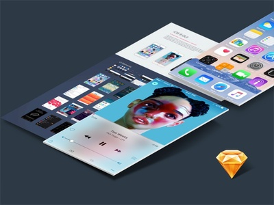 iOS 9 GUI Sketch