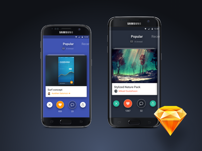 Samsung Galaxy S7/Edge Freebie galaxy edge s7 samsung vector sketchapp devices android