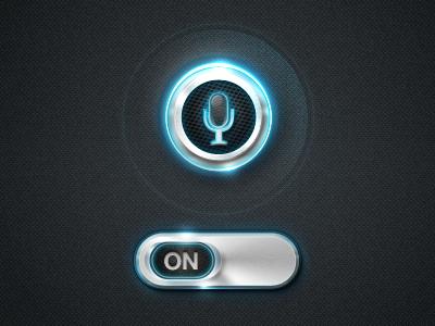 Tron Siri tron siri futuristic blue switch metal voice