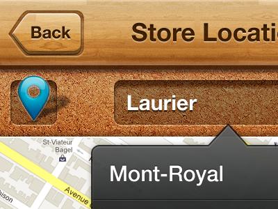 Store Locator wood iphone store glass location