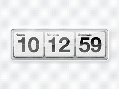 White Countdown white countdown ui design glass leather