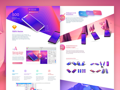 Angle 2 Mockups android iphone x perspective plugin mockups sketch