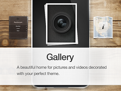 Gallery gallery cloth linen camera wood restaurant map