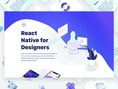 React Native for Designers card iphone illustration android ios