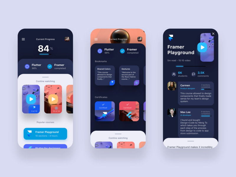 Double Cards UI iphone vector ui design framer bubble comments card ios