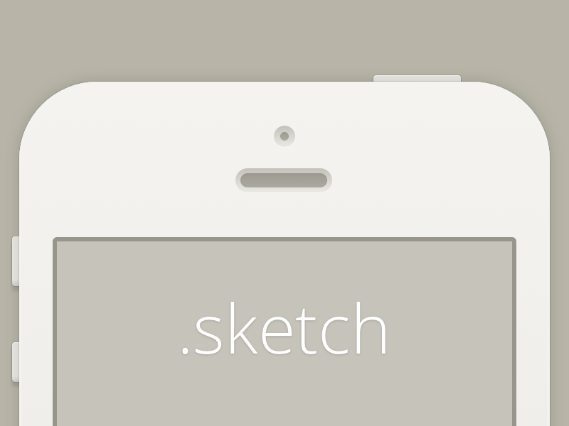 Minimal iPhone iphone freebie ui sketch
