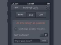 Minimal iPhone Dark