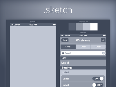 Wireframe iPhone iphone ui kit wireframe ios