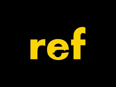 Referee Logo logo 2016 achter negative space whistle sports ref flag