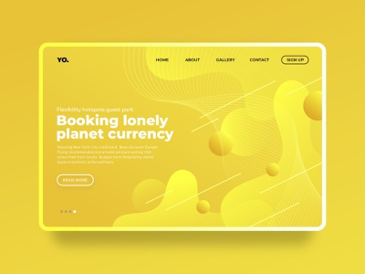 Yellow page concept - Free template monochromatic gradient webdesign minimal interface creative clean template web design ux design landing-age
