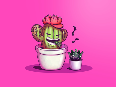 Friends character character design digital illustration cactus plants minimal planta funny fun comic cartoon digital painting illustration