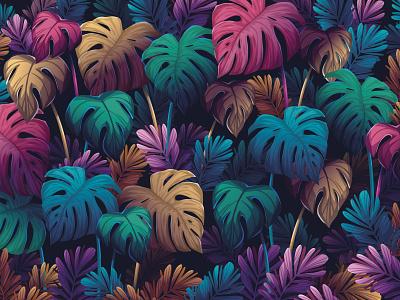 Monstera Background Artwork background design gradient creative digitalart visual designer background moderns gradients vector illustration vector digital tropical leaf leaves garden illustration