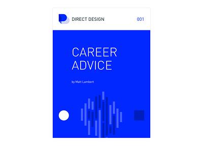 Direct Design Career Advice Cover book minimal cover ebook