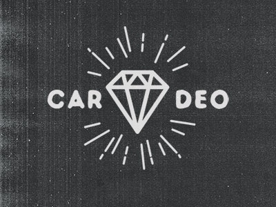 Diamond cardeo tattoo retro vintage logo diamond