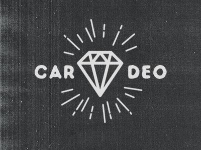 Diamond cardeo tattoo retro vintage logo diamond