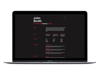 Reskee  resume bootstrap template