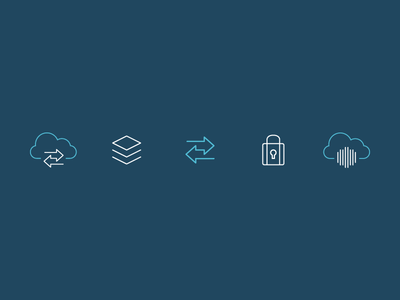 CA Mobile App Services Icons line app mobile icons