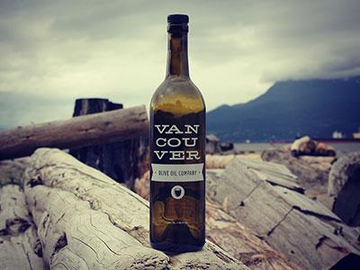 Vancouver Olive Oil Co. Bottle Design branding identity logo bottle packaging