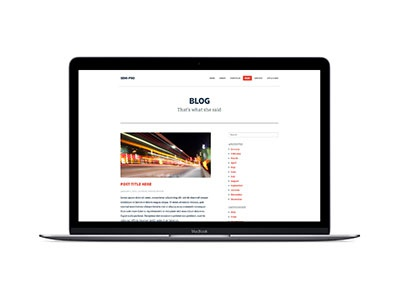 Semi-Pro Blog layout template bootstrap blog