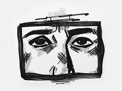 face sketch marker eyes sketch face