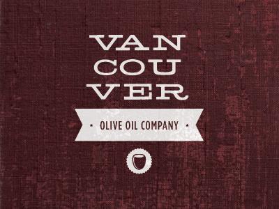 Vancouver Olive Oil Company Logo logo identity vancouver