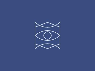 Icon line eye circle icon