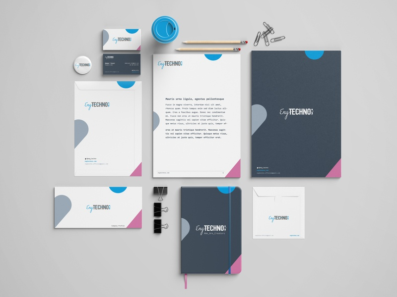 Eng Techno Stationery agency digital products branding design brand identity branding app design web