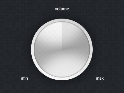 Volume Control ui knob dial
