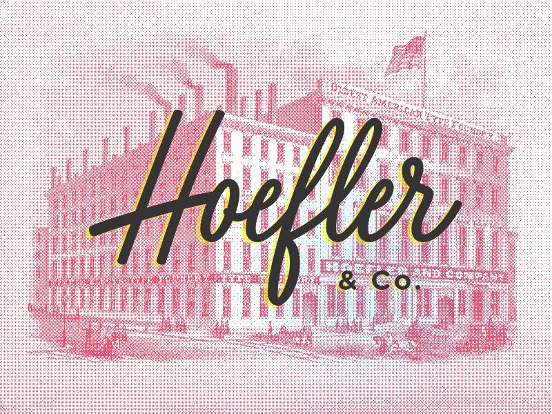 H&Co lettering script gotham knockout type foundry hoefler hco job
