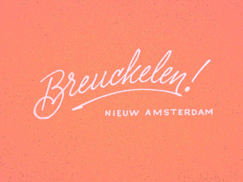 Breuckelen! lettering sketch letters bk bkln brooklyn nyc hipsters diy