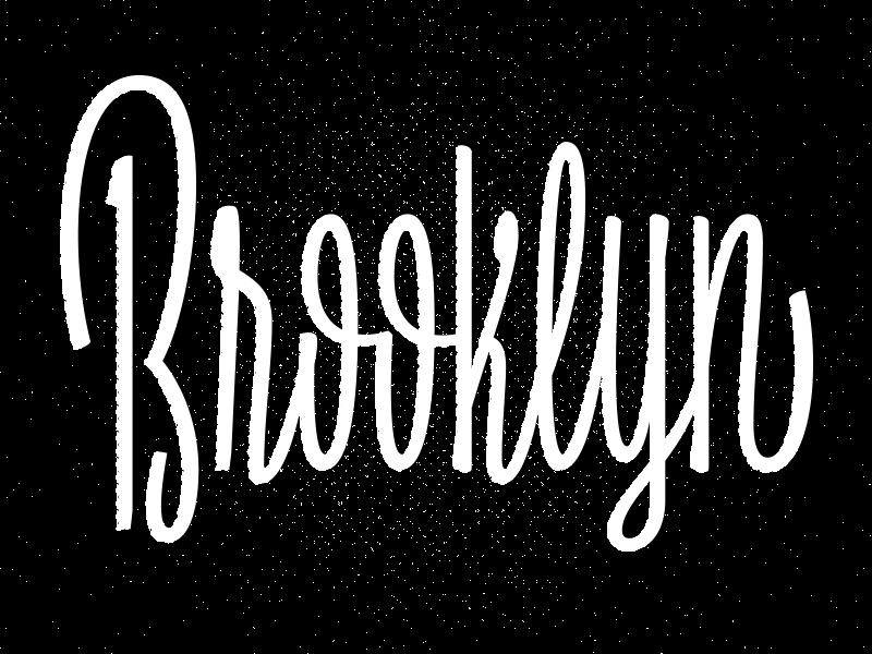 Bucktown nyc brooklyn script brush casual upright sketch lettering