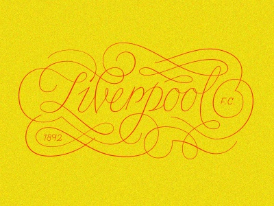 LFC type typography deco english script ornaments liverpool lfc soccer football fc
