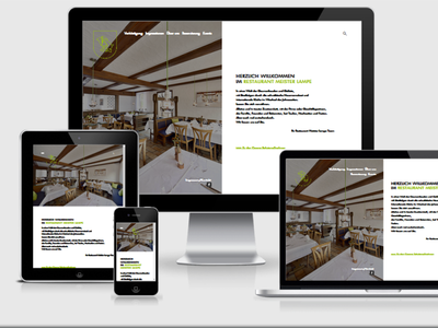 Restaurant MeisterLampe webdesign webdevelopment