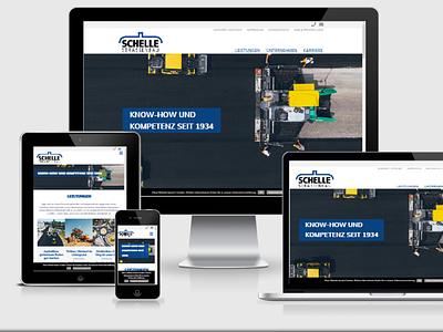 Schelle Strassenbau webdesign webdevelopment