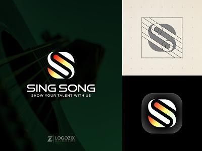 Sing Song music logo music app logo app logo gradient logo modern logo free logo mockup logo inspiration logo design design graphic design logo designer fiverr logo branding minimalist logo sing song logo