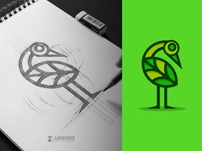 Natural-Egret logo idea logo inspiration modern logo graphic design logo designer logo minimalist logo design natural egret logo egret logo natural logo