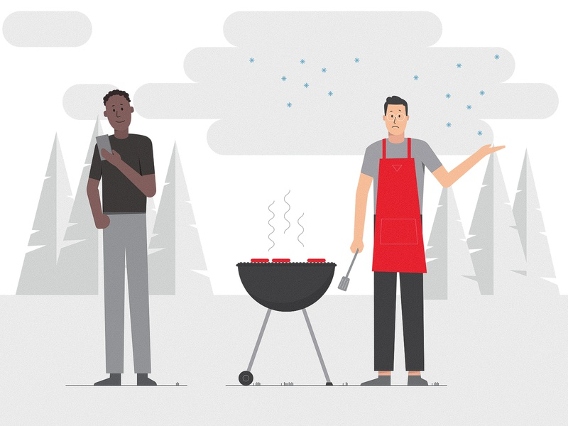 Character illustrations nature camping woods bbq people design vector illustrations