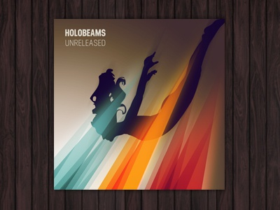 Holobeams cd artwork design graphic design colorful colourful beams diving silhouette