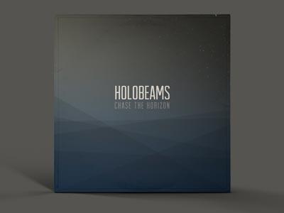 Holobeams cover art glasgow scotland electronic music vinyl cover art design graphic design geometric subtle water narrow condensed