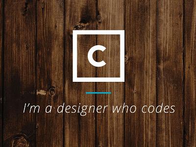 New logo and website texture logo glasgow simple craig mclachlan letter c digital designer front-end developer minimal square wood