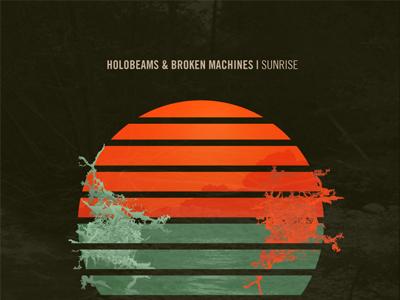 Holobeams Single Artwork music artwork coverart texture sun rough sunset vintage retro