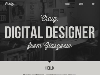 New Website Experiments dark vintage retro worn type typography grey warm cream portfolio designer web web designer