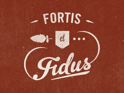 Fortis Et Fidus rough type clan maclachlan rowan mountain ash distressed text fortis et fidus gelato script trade gothic