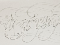 Bristol Calligraphy Lettering Sketch