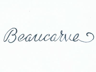 Beaucarve Logo Sketch lettering logotype logo sketch rough shapes curves surf pencil script