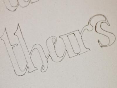Thursday ligature based glyph sketch ligature ligatures thursday glyph type lettering sketch